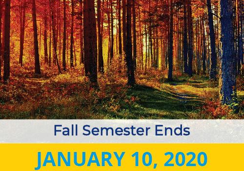 Fall Semester Ends 2020