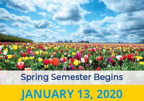 Spring Semester Begins 2020